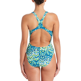 Nike Swim Digi Arrow Power Back One Piece Dam lt blue fury